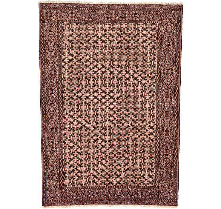 6' 4 x 9' 1 Torkaman Persian Rug