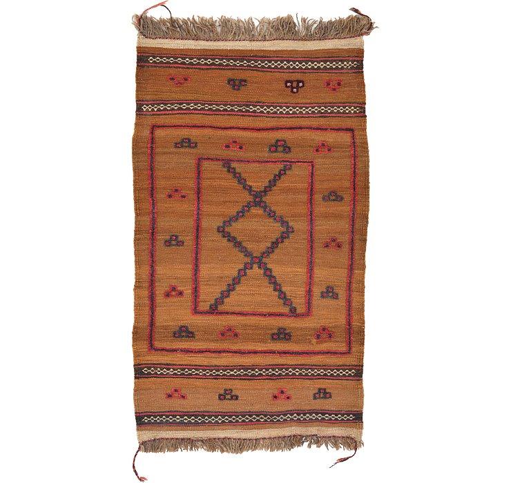 2' 8 x 4' 7 Kilim Afghan Rug