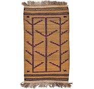 Link to 2' 10 x 4' 10 Kilim Afghan Rug