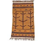 Link to 2' 10 x 4' 5 Kilim Afghan Rug