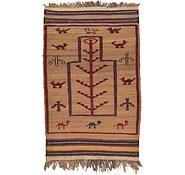 Link to 2' 10 x 4' 6 Kilim Afghan Rug