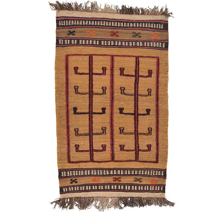 2' 7 x 4' 4 Kilim Afghan Rug