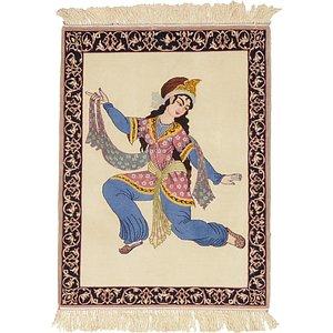 HandKnotted 2' 4 x 3' 2 Isfahan Persian Rug