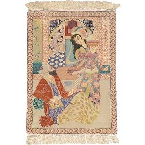 2' 4 x 3' 2 Isfahan Persian Rug