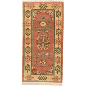 2' 10 x 5' 7 Antique Finish Runner Rug