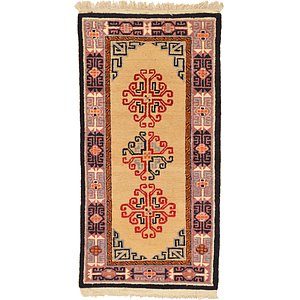 2' 10 x 5' 9 Antique Finish Runner Rug