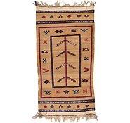 Link to 2' 4 x 4' 5 Kilim Afghan Rug