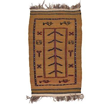 76x132 Kilim Afghan Rug