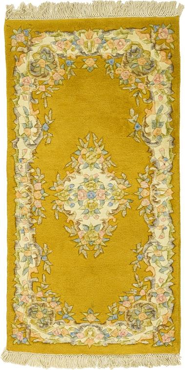 Gold 2 4 X 4 6 Carved Pekin Rug Oriental Rugs Esalerugs