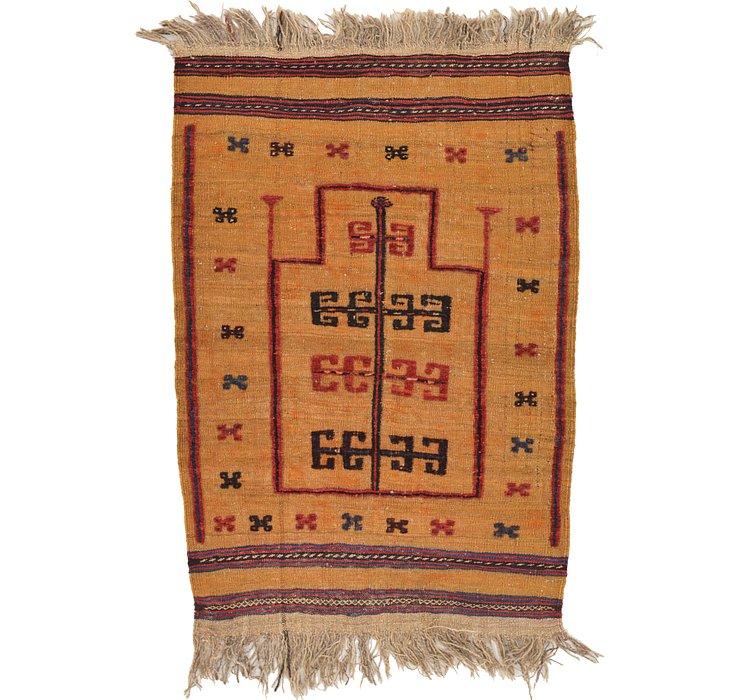2' 7 x 3' 10 Kilim Afghan Rug