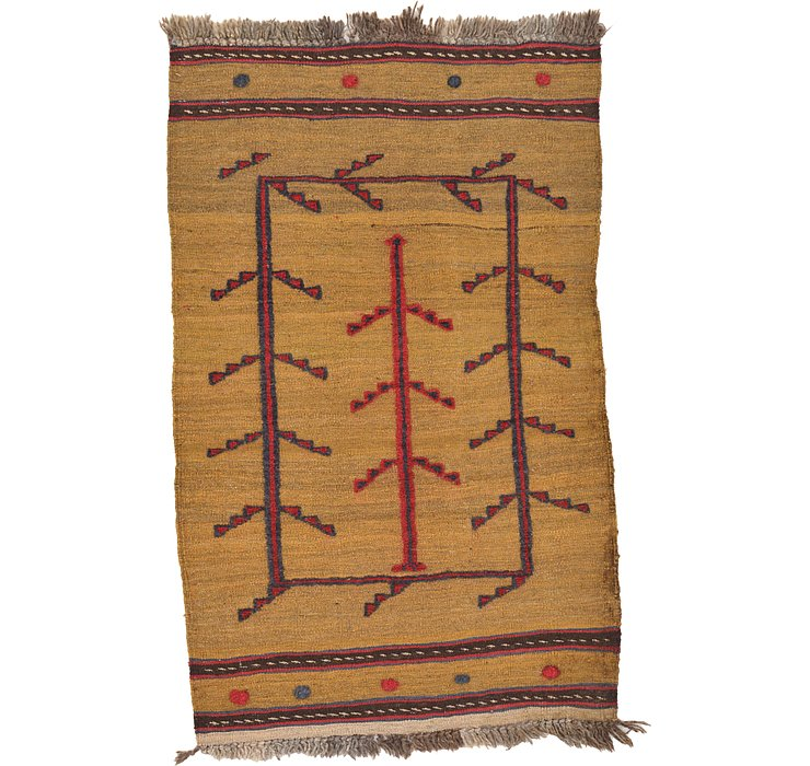 2' 7 x 4' 1 Kilim Afghan Rug