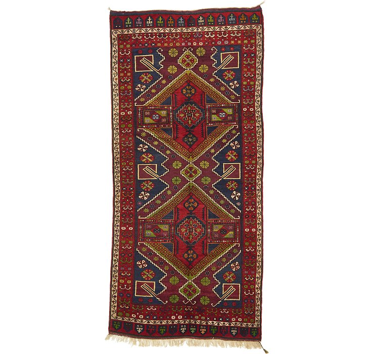163cm x 348cm Shiraz Persian Runner Rug