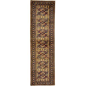 2' 9 x 9' 3 Kazak Oriental Runner Rug