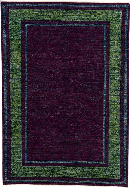 Purple 5 6 X 7 10 Over Dyed Ziegler Oriental Rug