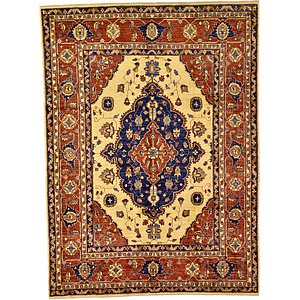 6' 11 x 9' 3 Kazak Oriental Rug