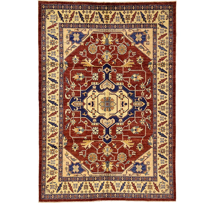 6' 2 x 8' 11 Kazak Oriental Rug