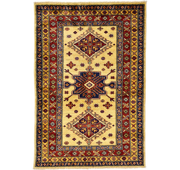 3' 4 x 4' 11 Kazak Oriental Rug