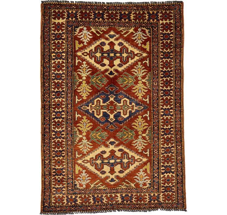 3' 2 x 4' 6 Kazak Oriental Rug