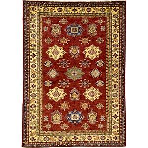 Unique Loom 5' 11 x 8' 2 Kazak Oriental Rug