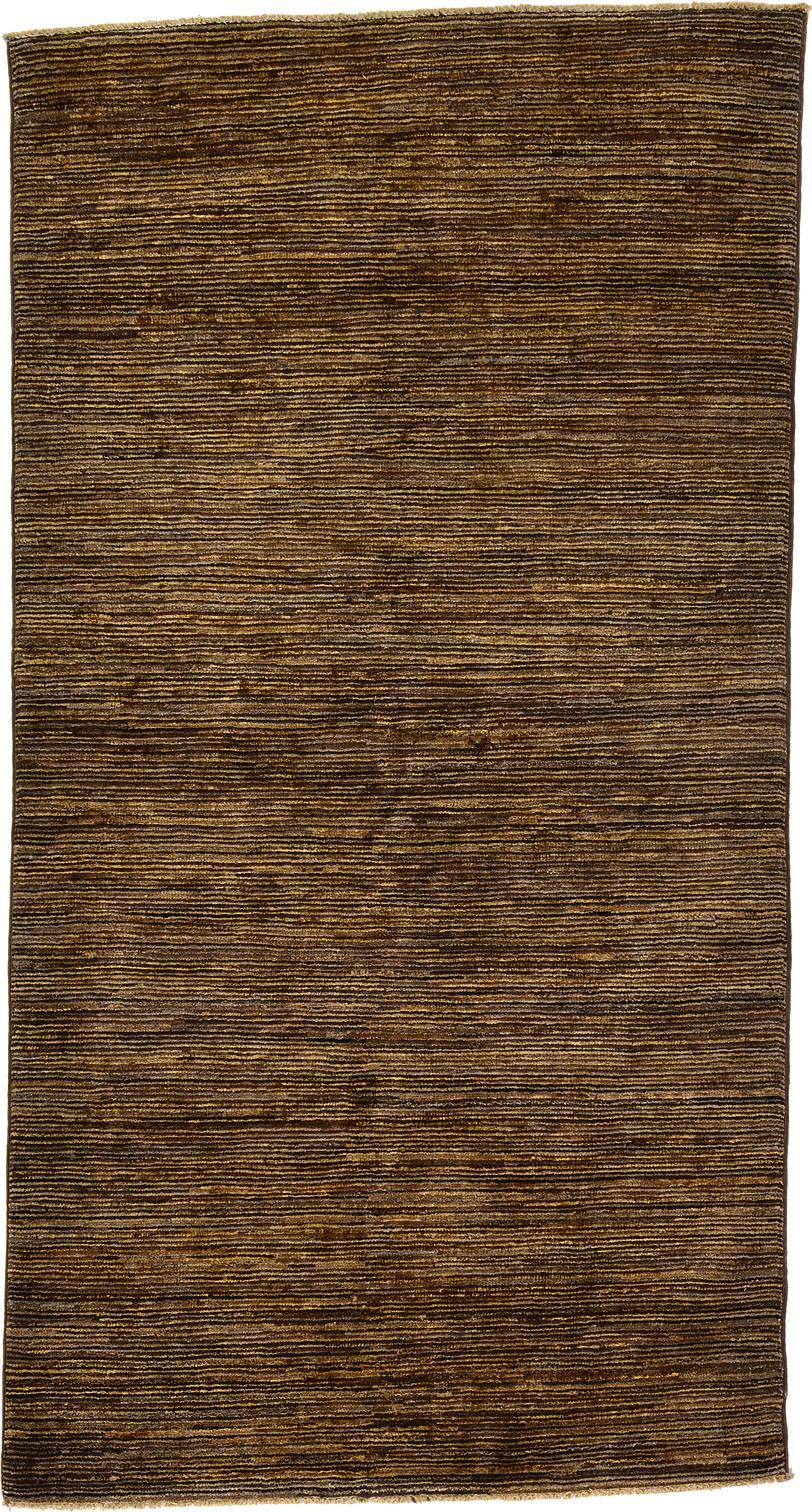 Brown Handknotted 3 5 X 6 3 Modern Ziegler Oriental Rug Oriental