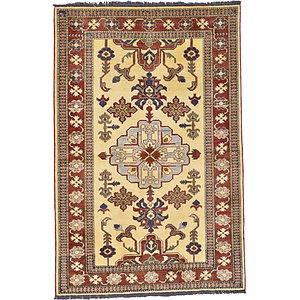 Unique Loom 4' x 5' 11 Kazak Oriental Rug