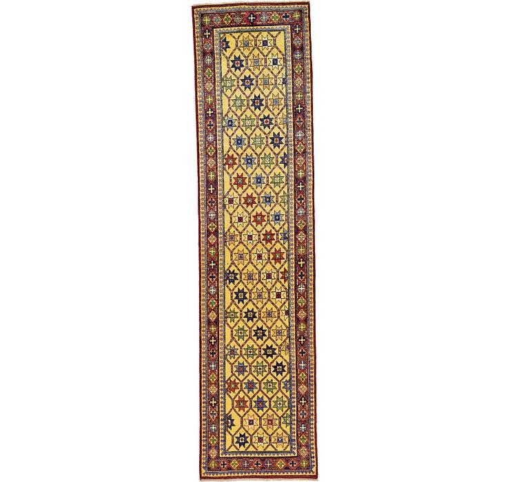 85cm x 335cm Kazak Oriental Runner Rug