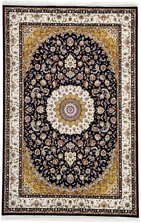Black 6 4 X 10 Isfahan Design Rug Area Rugs Esalerugs
