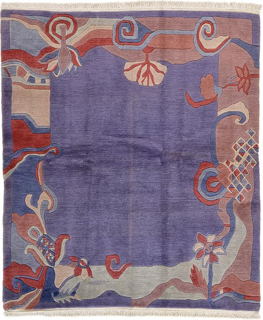 Gray 6' 7 X 7' 9 Nepal Rug
