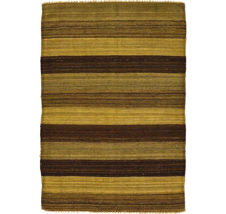 3' 5 x 4' 11 Kilim Afghan Rug