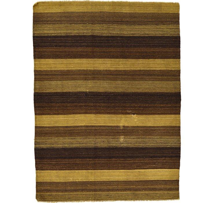 4' 1 x 5' 6 Kilim Afghan Rug