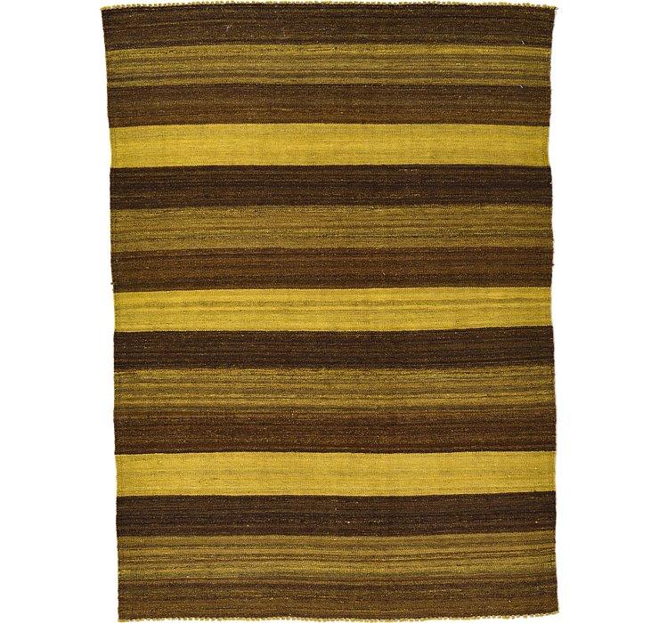4' 2 x 5' 9 Kilim Afghan Rug