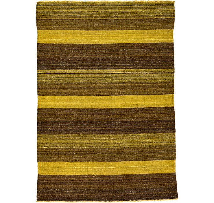 4' 2 x 5' 11 Kilim Afghan Rug
