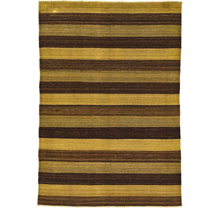 4' 1 x 5' 10 Kilim Afghan Rug