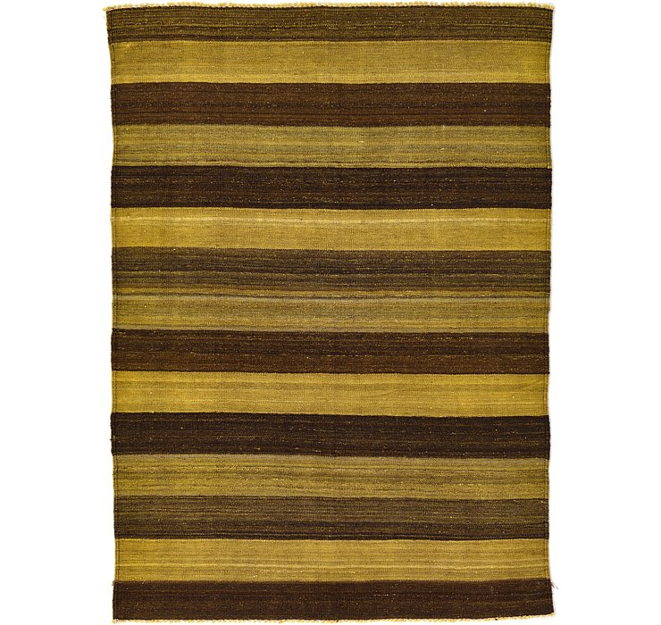 4' 1 x 5' 9 Kilim Afghan Rug