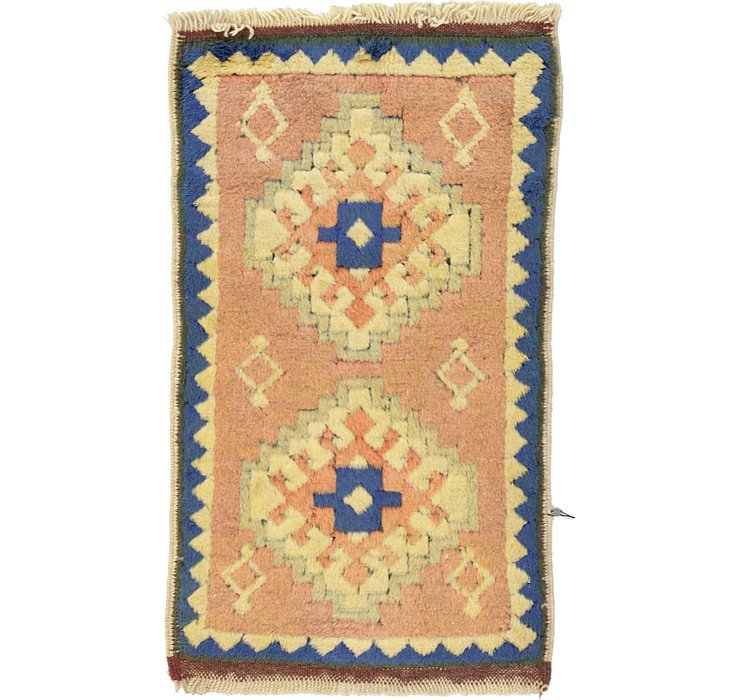 HandKnotted 1' 10 x 3' Kars Rug