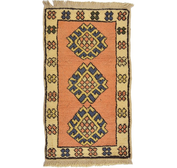 HandKnotted 1' 7 x 2' 10 Kars Rug