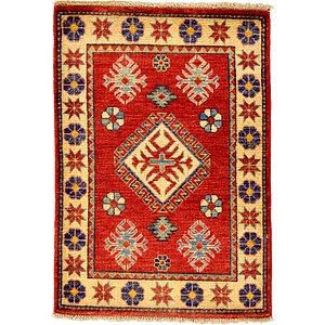 2x3 Red Kazak  Rugs