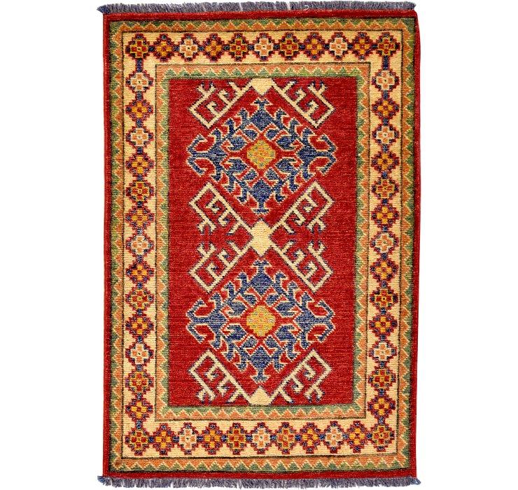 2' 3 x 3' 4 Kazak Oriental Rug