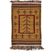 Link to 2' 7 x 3' 9 Kilim Afghan Rug