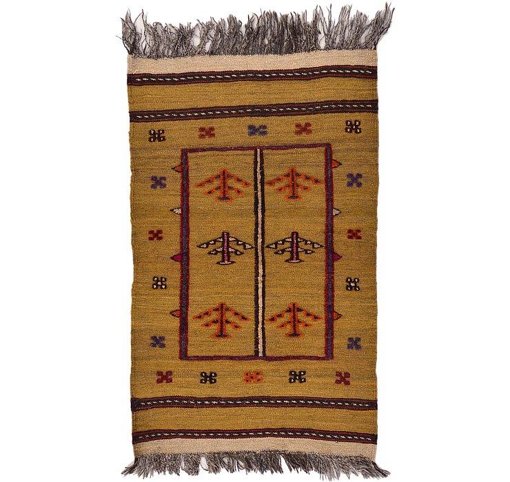 2' 5 x 3' 11 Kilim Afghan Rug