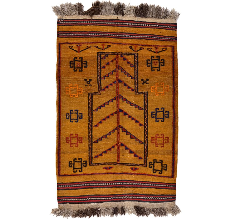 85cm x 137cm Kilim Afghan Rug