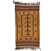 Link to 2' 6 x 4' 5 Kilim Afghan Rug