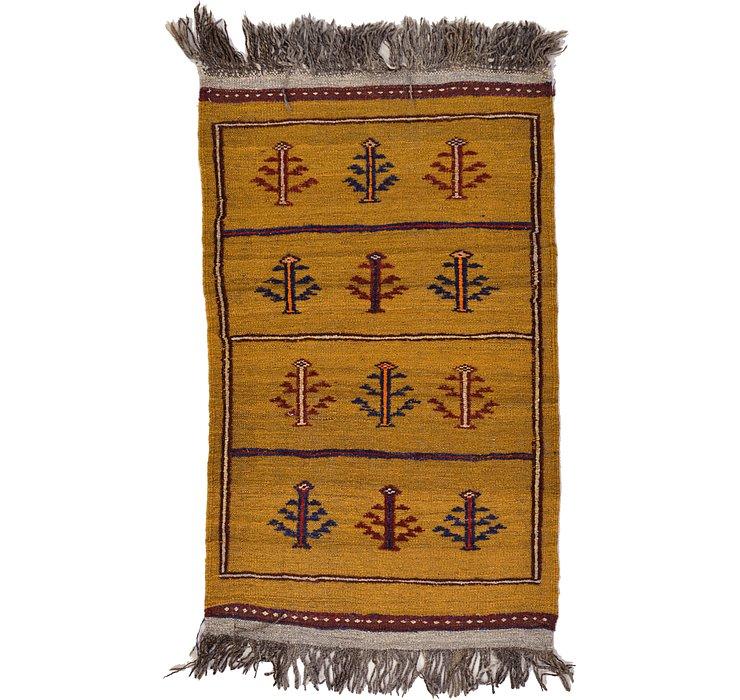 2' 5 x 4' Kilim Afghan Rug