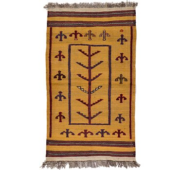 76x135 Kilim Afghan Rug