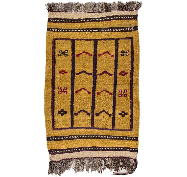 2' 6 x 3' 11 Kilim Afghan Rug