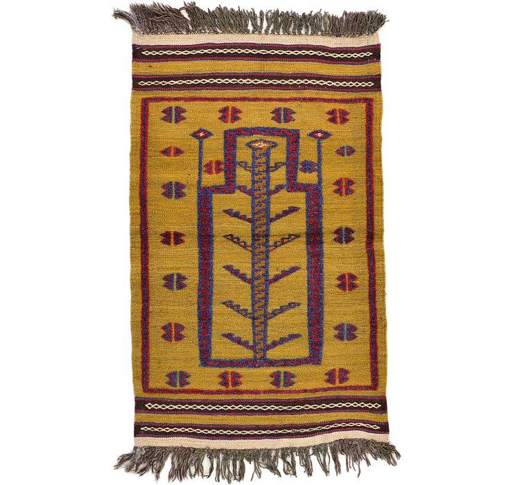 2' 6 x 4' 1 Kilim Afghan Rug