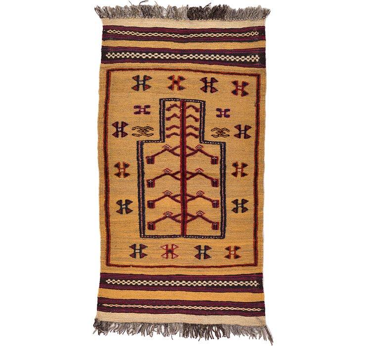 2' 4 x 4' 3 Kilim Afghan Rug