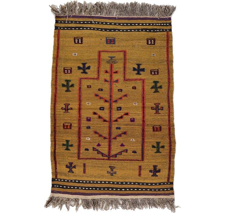 2' 9 x 4' 1 Kilim Afghan Rug