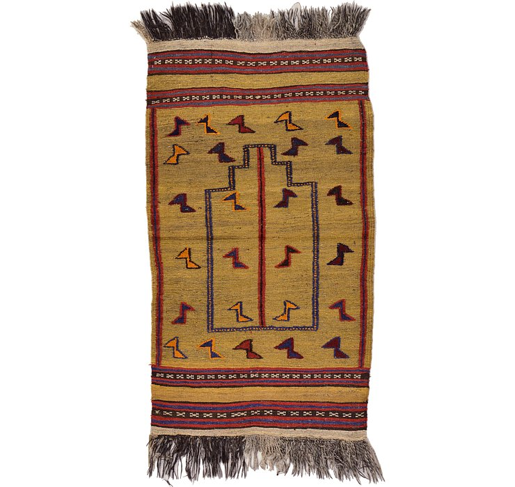 2' 6 x 4' 5 Kilim Afghan Rug