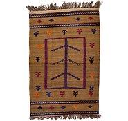 Link to 2' 6 x 3' 10 Kilim Afghan Rug